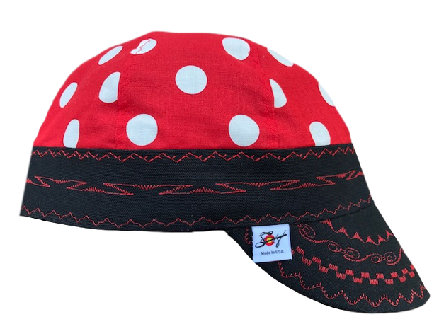 🔴  Bright Red Polka Dot 🔴  Hybrid Welding Caps