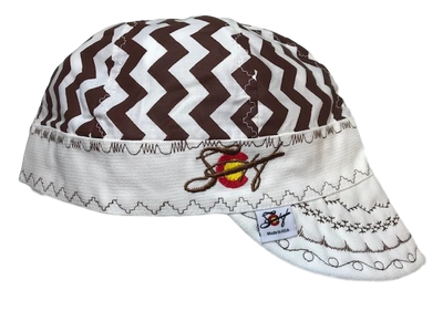Chocolate Chevron Hybrid Size 7 1/2 Welding Cap