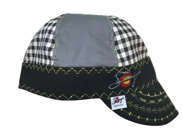 Grey/Black/Yellow KickA$$ Hybrid Size 7 1/2 Welding Cap