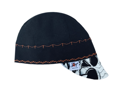 Graffiti Black/Safety Orange Prewashed Canvas Welding Cap