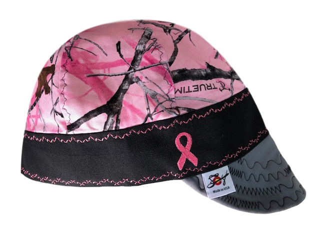 Breast Cancer Awareness Embroidered Hybrid Welders Cap