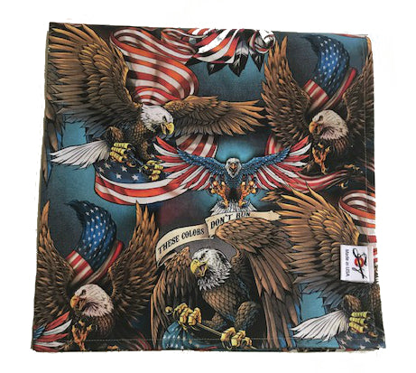USA Print Patriotic Eagle Limited Edition Oversized Bandanna