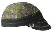 Grey & Yellow Unique Paisley Hybrid Welders Cap