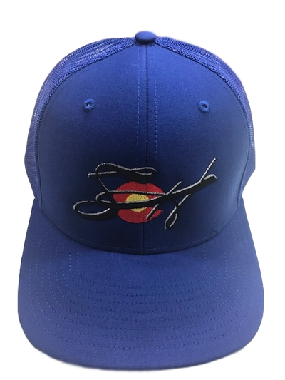 Royal Embroidered Richardson 112 SnapBack Mesh Back Trucker Cap