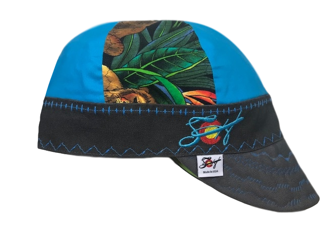 Jungle Mixed Panel Embroidered Hybrid Welding Cap
