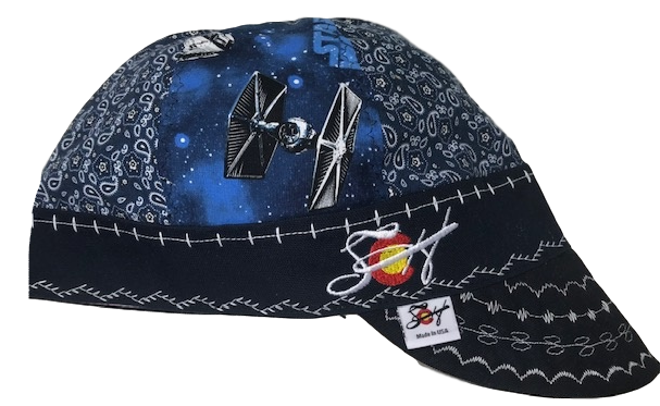 Star Wars/Blue Paisley Mixed Up Embroidered Hybrid Welding Cap