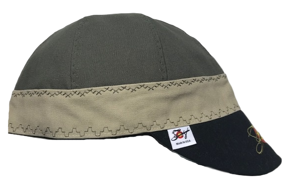 Olive/Khaki/Black Triple Play Embroidered Prewashed Canvas Welding Cap