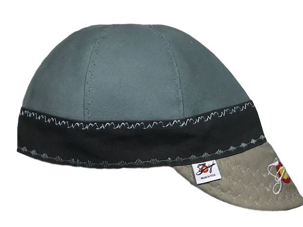 Seafoam Blue Crown Triple Play Embroidered Prewashed Welding Cap