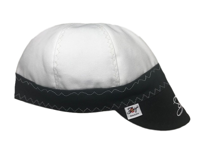 Lined White Canvas Embroidered Size 7 7/8 Prewashed Welding Cap
