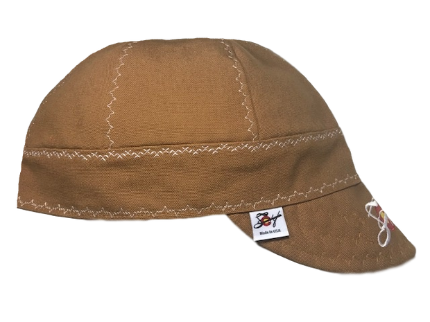 Carhartt Original Brown Canvas Embroidered Size 7 7/8 Prewashed Welding Cap