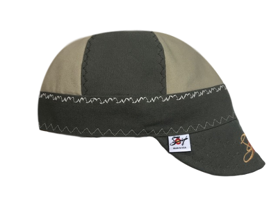"""The Distinguished"" Mixed Panel Size 7 5/8 Prewashed Canvas Embroidered Welders Cap"