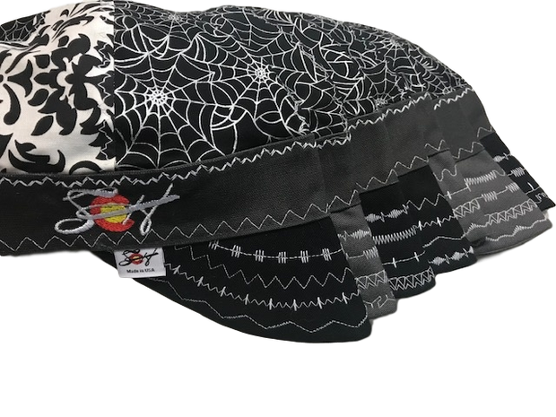 Embroidered Metallic Web/Damask Hybrid Welding Cap Size 7 5/8