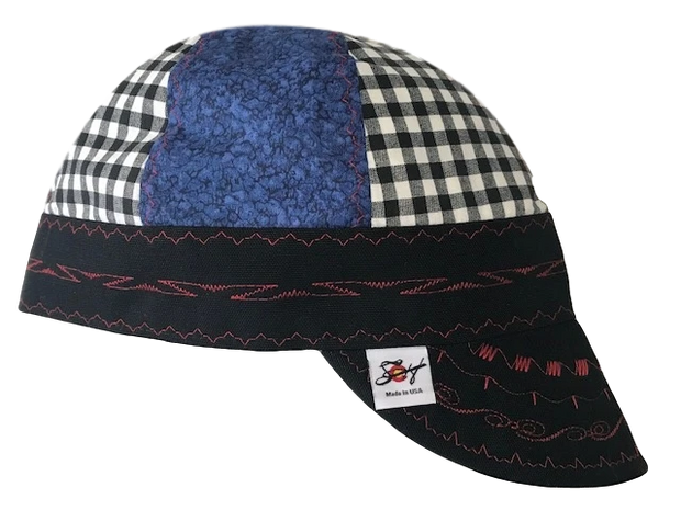 Black & Blue Mixed Panel Hybrid Welding Cap