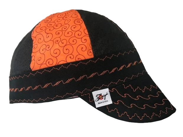 Blaze Orange/Black Killer Combo Hybrid Welding Cap
