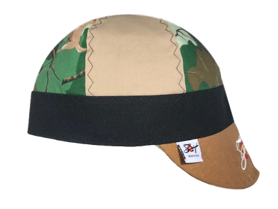 Deer 🦌🦌  Camo & Khaki Embroidered Hybrid Welders Cap