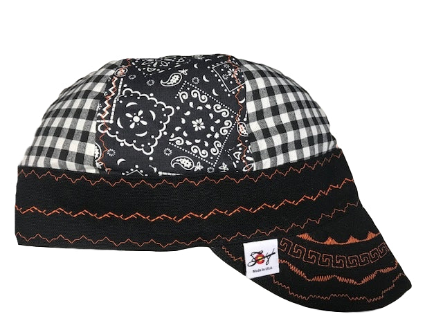 Paisley & Checkered Mixed Panel Hybrid Welding Cap