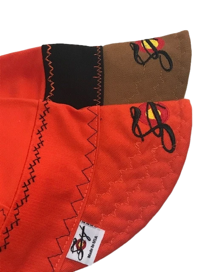 Safety Orange 2 Pk. Size 7 1/8 Canvas Welding Caps