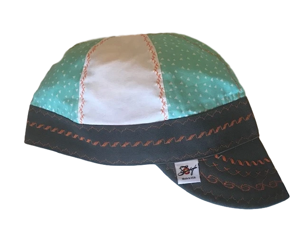 Mint & Black Mixed Panel Hybrid Welding Cap