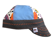 Colorful Leaves/Blue Size 7 1/4 Hybrid Welding Cap