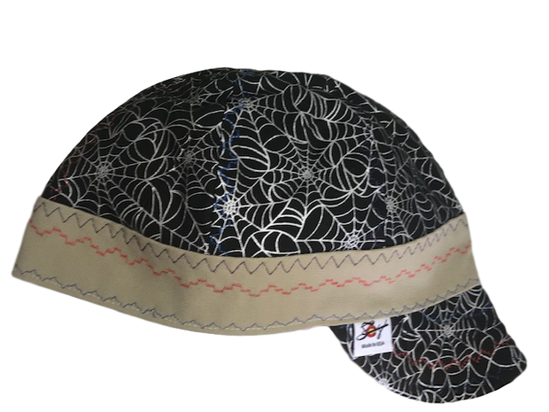 Flannel Lined Metallic Web Size 7 1/2  Hybrid Welding Cap