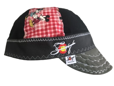 Mickey & Minnie Mouse Mixed Panel Embroidered Size 7 1/2  Hybrid Welding Cap