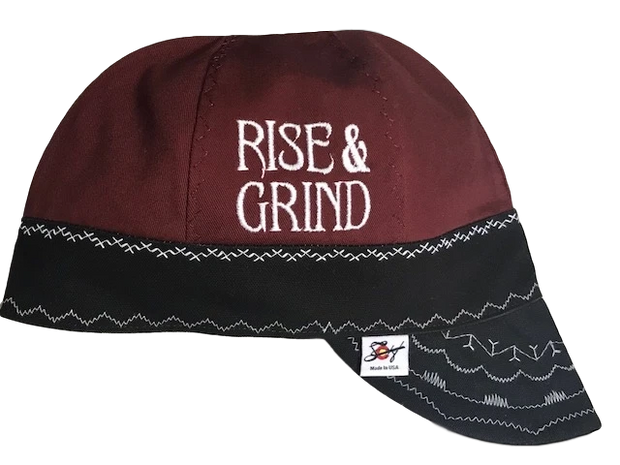 Rise & Grind Embroidered Size 7 1/8 Canvas Welding Cap