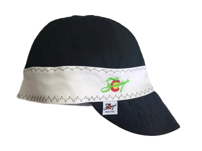 Black & White Embroidered Lined Size 7 1/8 Canvas Welding Cap