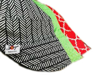 3Pk. Black, Green & Red Cotton Size 7 1/2 Welding Caps