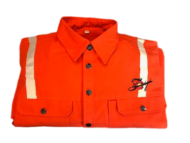 SoCoHats Exclusive Safety Orange W/Reflective Striping Welding Shirt Available Now!!