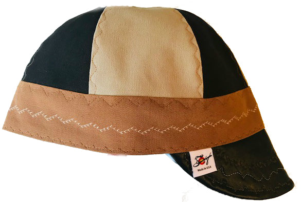 Custom Leather Bill Size 7 1/2 Prewashed Canvas Welding Cap