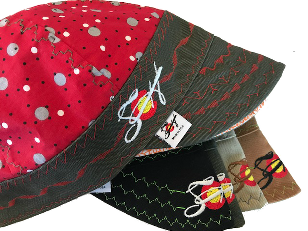 ⚪️Red w/ Polka Dots⚪️ Unique Hybrid Welding Cap