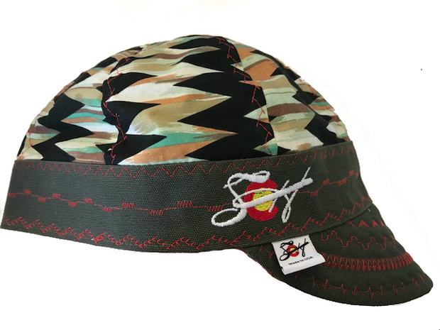 ⌇Painted Chevron⌇ Unique Hybrid Welding Cap