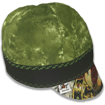 Green w/ Traditional Style Hybrid Welding Cap