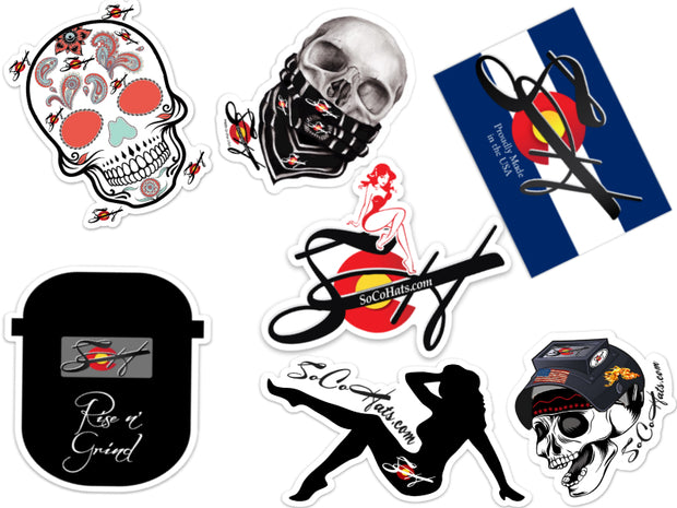 Large Die Cut Vinyl Stickers Choose your Design!