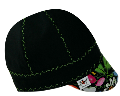 🍀 Black/Neon Graffiti 🍀  100% Cotton Welders Cap