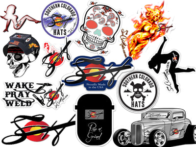 4 Pk. Hood Slap Stickers Durable Vinyl