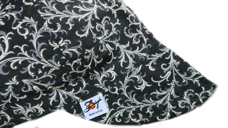 ‼Awesome‼ Black Filigree Size 7 1/4 Cotton Welding Cap
