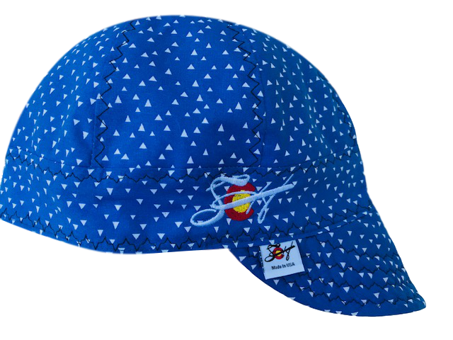 Bright Blue ▲Triangles▲ SoCo Logo Embroidered Cotton Welders Cap
