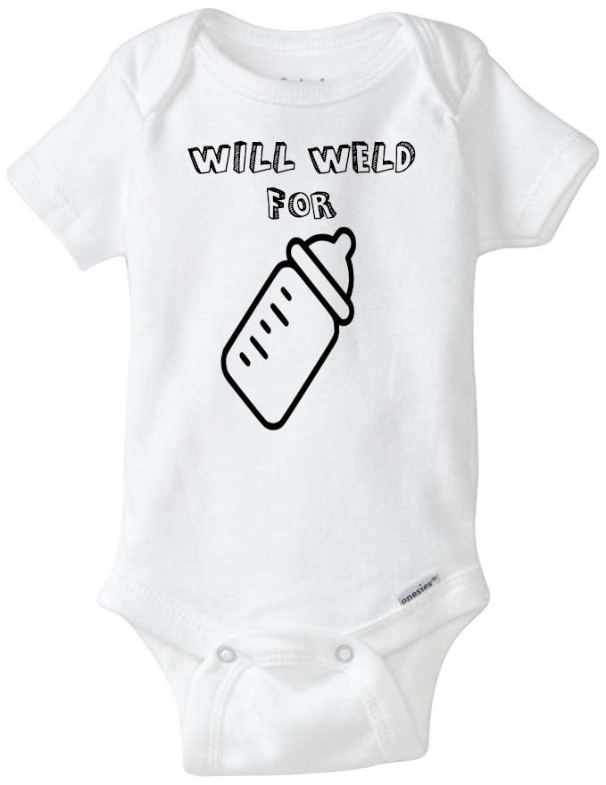 Will Weld for Milk Infant Organic Onesie