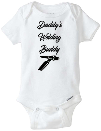 Daddy's Welding Buddy Infant Organic Onesie