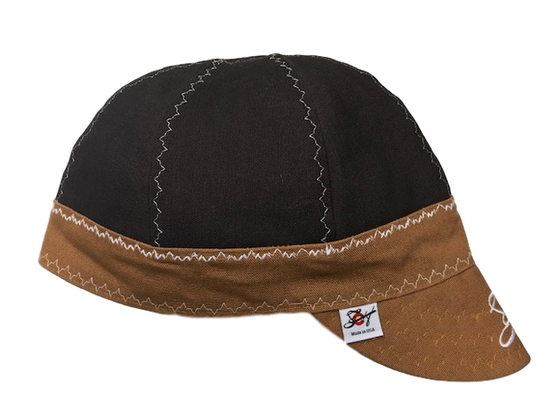 Chocolate Brown/Carhartt Brown Embroidered Size 7 3/4 Prewashed Canvas Welding Cap