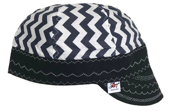 Navy Size 7 1/2 Embroidered Hybrid Welding Cap