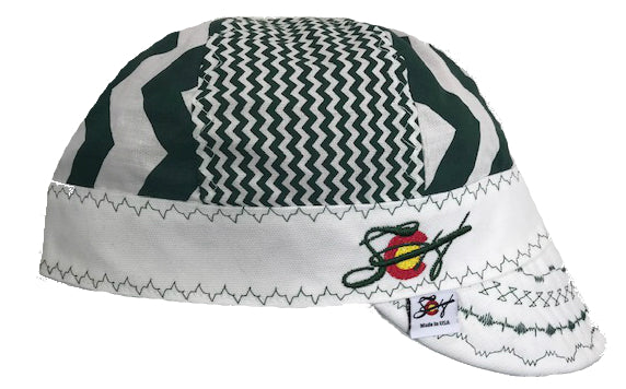 Kelly Green ✅  Chevron Mixed Panel Embroidered Hybrid Welding Cap