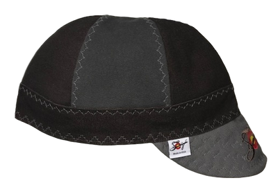 Chocolate Brown/Grey 2-Tone Embroidered Size 7 3/4 Prewashed Canvas Welding Cap