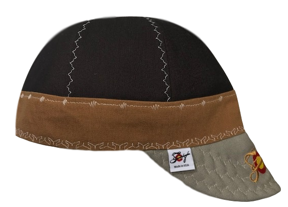 Chocolate/Brown/Khaki 🔥  Size 7 3/4 Prewashed Embroidered Canvas Welders Cap