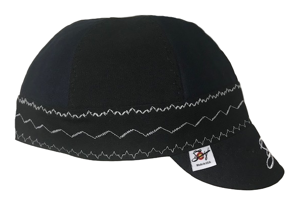 Black/Navy Canvas Embroidered Size 7 3/4 Prewashed Welding Cap