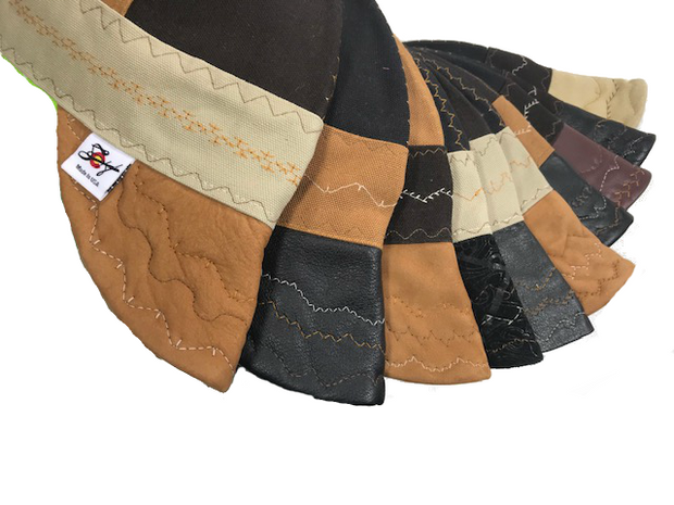 What The Flux?? Choose your Leather Bill Tri-Color Canvas Size 7 1/2 Prewashed Welding Cap