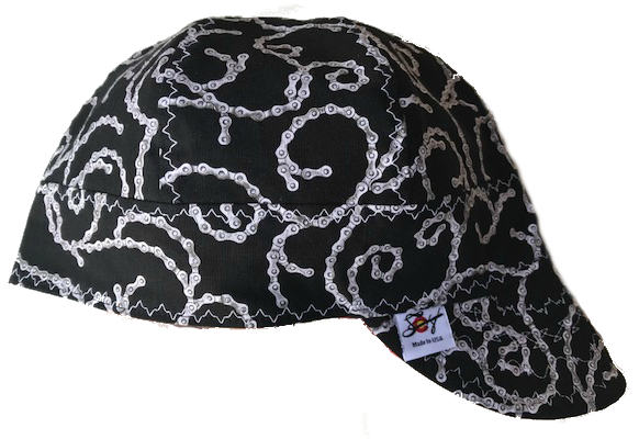 Motorcycle Chain 100% Cotton Lined Welding Cap