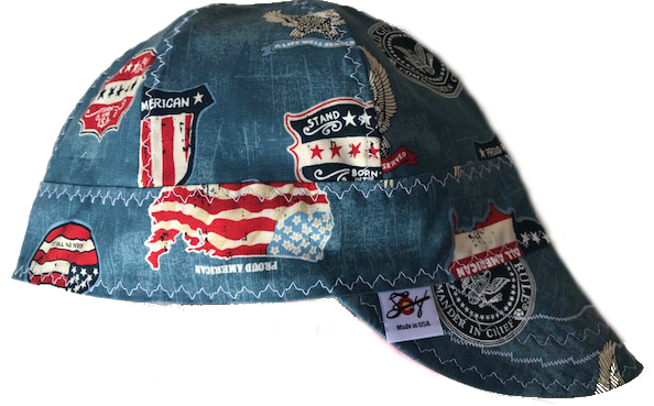 American Pride Old Guys Rule 100% Cotton Lined Welding Cap