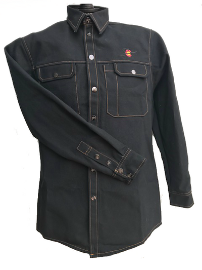 Black & Gold Prewashed Heavy Duty Canvas Welding Shirt